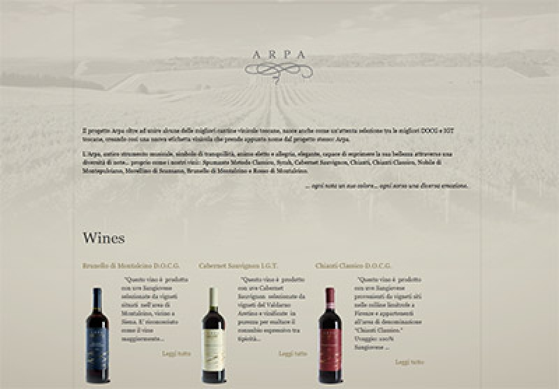 Winetrade lancia il sito web Arpavini.it