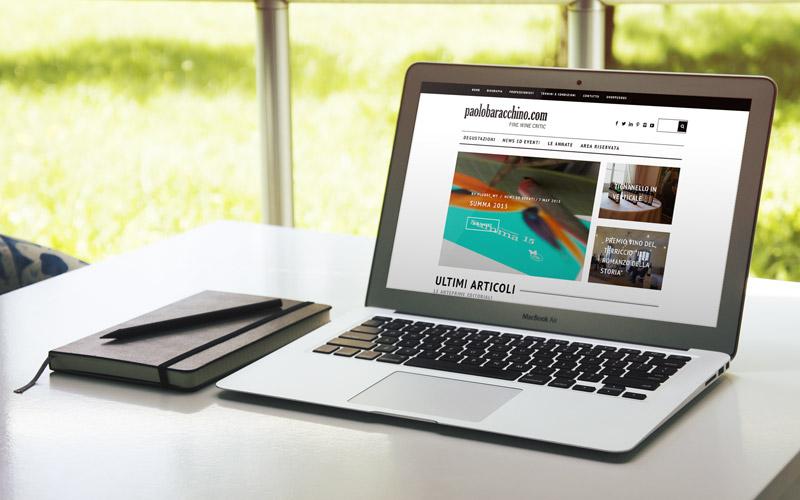 Il Giornalista Enogastronomico Paolo Baracchino sceglie Winetrade per il restyle web