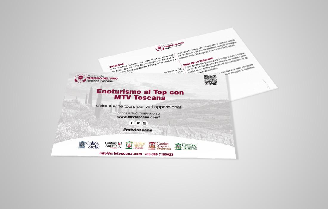 Movimento Turismo del Vino Toscana cartolina