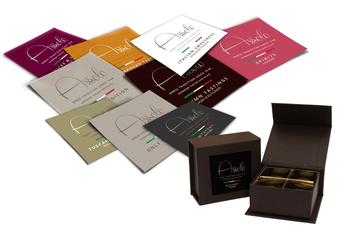 Assolo Chocolate etichette