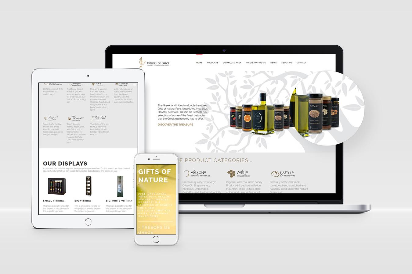 Tresors del Grece website