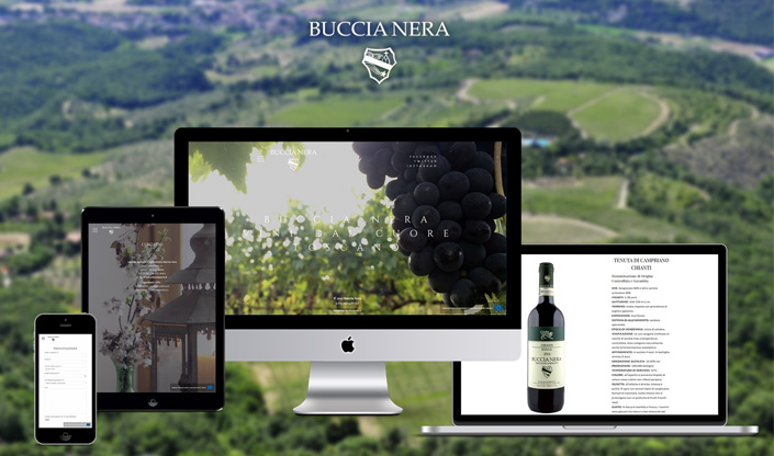 Buccia Nera winery new website